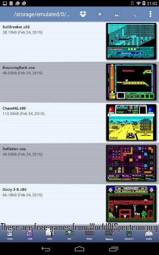 Speccy - Complete Sinclair ZX Spectrum Emulator screenshots 2