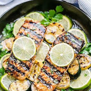 Grilled Honey Lime Salmon.