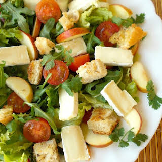 Light Salad With Brie Cheese.