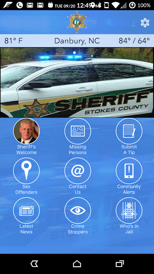 Stokes County NC Sheriff- screenshot