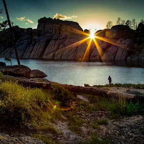 Sunset at Sylvan Lake by Chris Martin - Landscapes Sunsets & Sunrises ( custer state park, blackhills, stock, sunset, south dakota, sunrise,  )