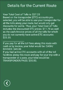 Tollsmart Toll Calculator for US & Canada- screenshot thumbnail