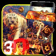 Fire Tiger 3D Glass Tech Theme