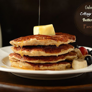 Oatmeal Cottage Cheese Buttermilk Pancakes(No eggs)