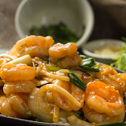Prawn with Ginger & Green Onion