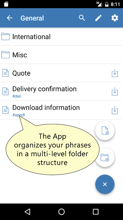Autotext PhraseExpress- screenshot