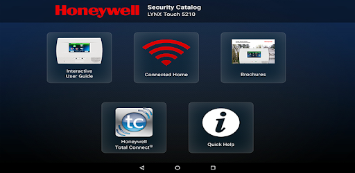 Training tool for Honeywell's LYNX Touch 5210 connected home security system.