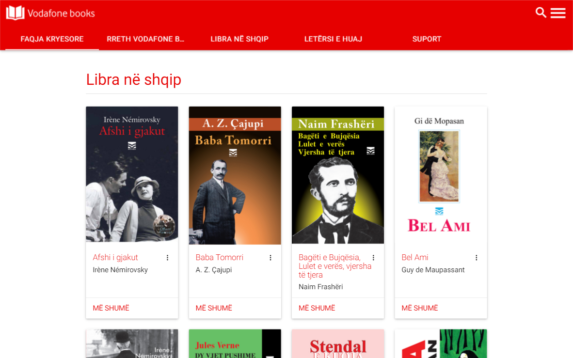 Vodafone Books- screenshot