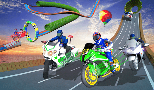 Police Bike Mega Ramp Impossible Bike Stunt Games painmod.com screenshots 18