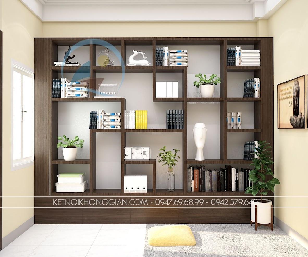thiết kế phòng làm việc kết hợp làm đọc sách và thiền