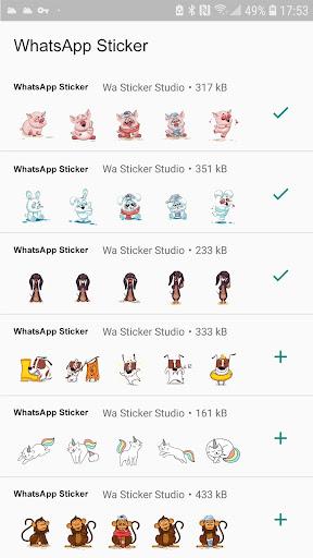 Piggy Animal Stickers for WhatsApp, WAStickerApps 2.0.3 screenshots 1
