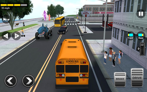Super High School Bus Driving Simulator 3D - 2020 apkdebit screenshots 2