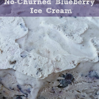 No-Churned Blueberry Ice Cream