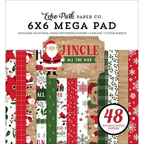 Echo Park Double-Sided Mega Paper Pad 6X6 - Jingle All The Way