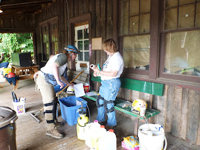 Photo: Heather & Mary Sue getting supplies