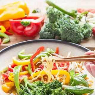 Ultra low calorie, veg packed Thai noodle soup