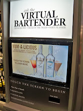 Photo: But if you like hard liquor concoctions you have your very own Virtual Bartender booth to help you.