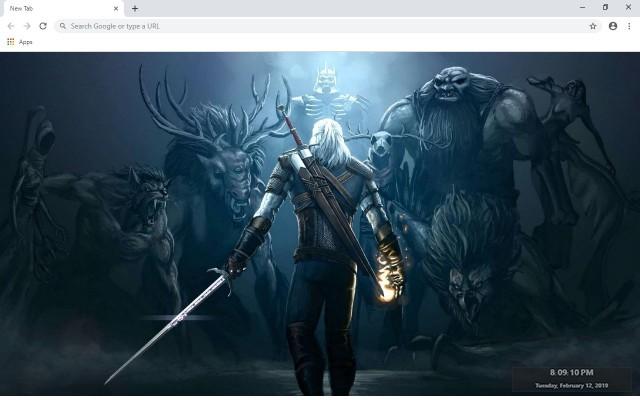 Witcher 3 Wildhunt Custom New Tab