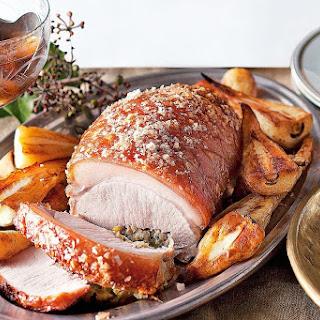 Roast Pork And Pistachio Stuffing.