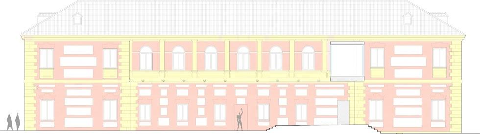 Así será la fachada hacia San Luis del Museo del Realismo Español