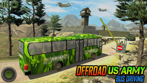 Offroad US Army Transport Prisoners Bus Driving  screenshots 2