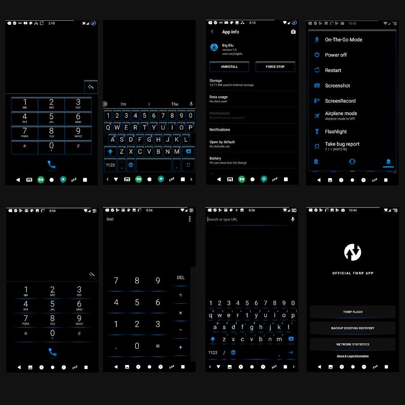 BigBlu Substratum Theme Screenshot 2