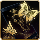 Gold Butterfly Live Wallpaper file APK Free for PC, smart TV Download