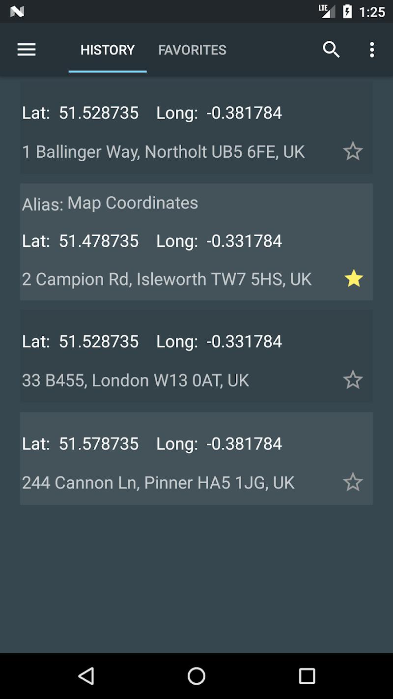 Map Coordinates Screenshot 3