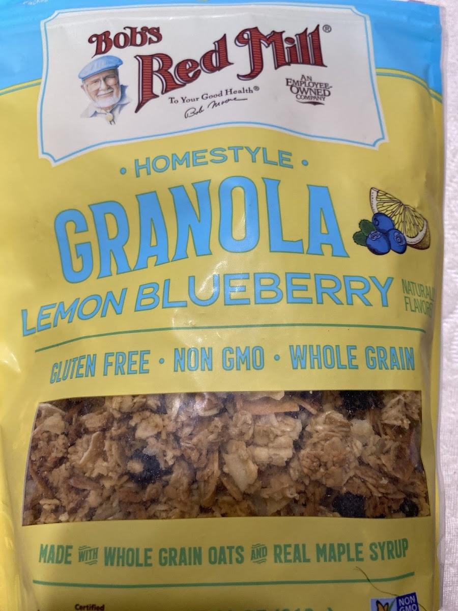 Homestyle Granola-Lemon Blueberry