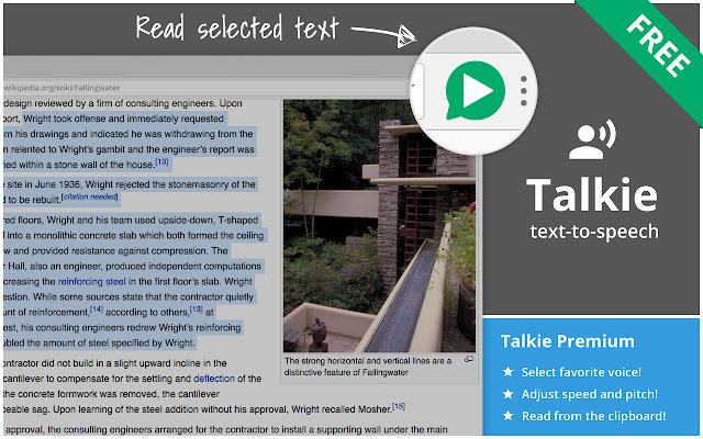 Talkie: text-to-speech, many languages!