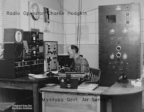 Photo: Charlie Hodgkin, Radio Operator, Lac du Bonnet.