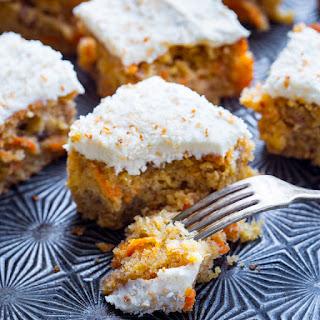 Maple Carrot Sheet Cake.