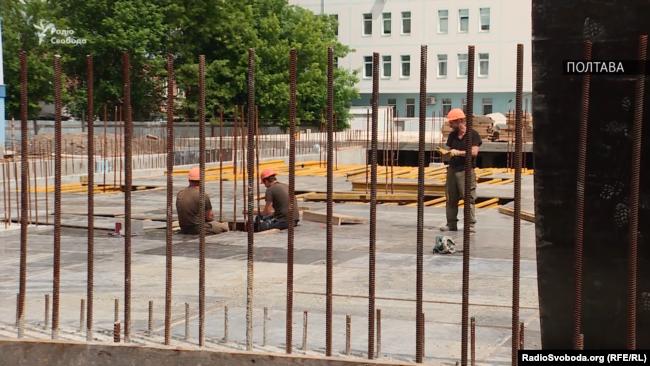Полтавский областной кардиоцентр.  завершение строительства