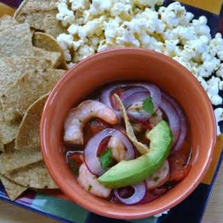 Ceviche de Camaron (Shrimp Ceviche).