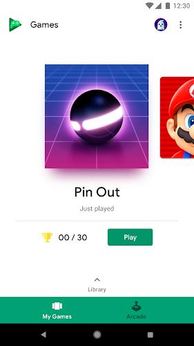 Google Play Games Android App Screenshot
