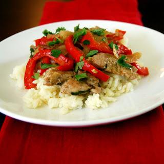 Cilantro Pork Stir Fry
