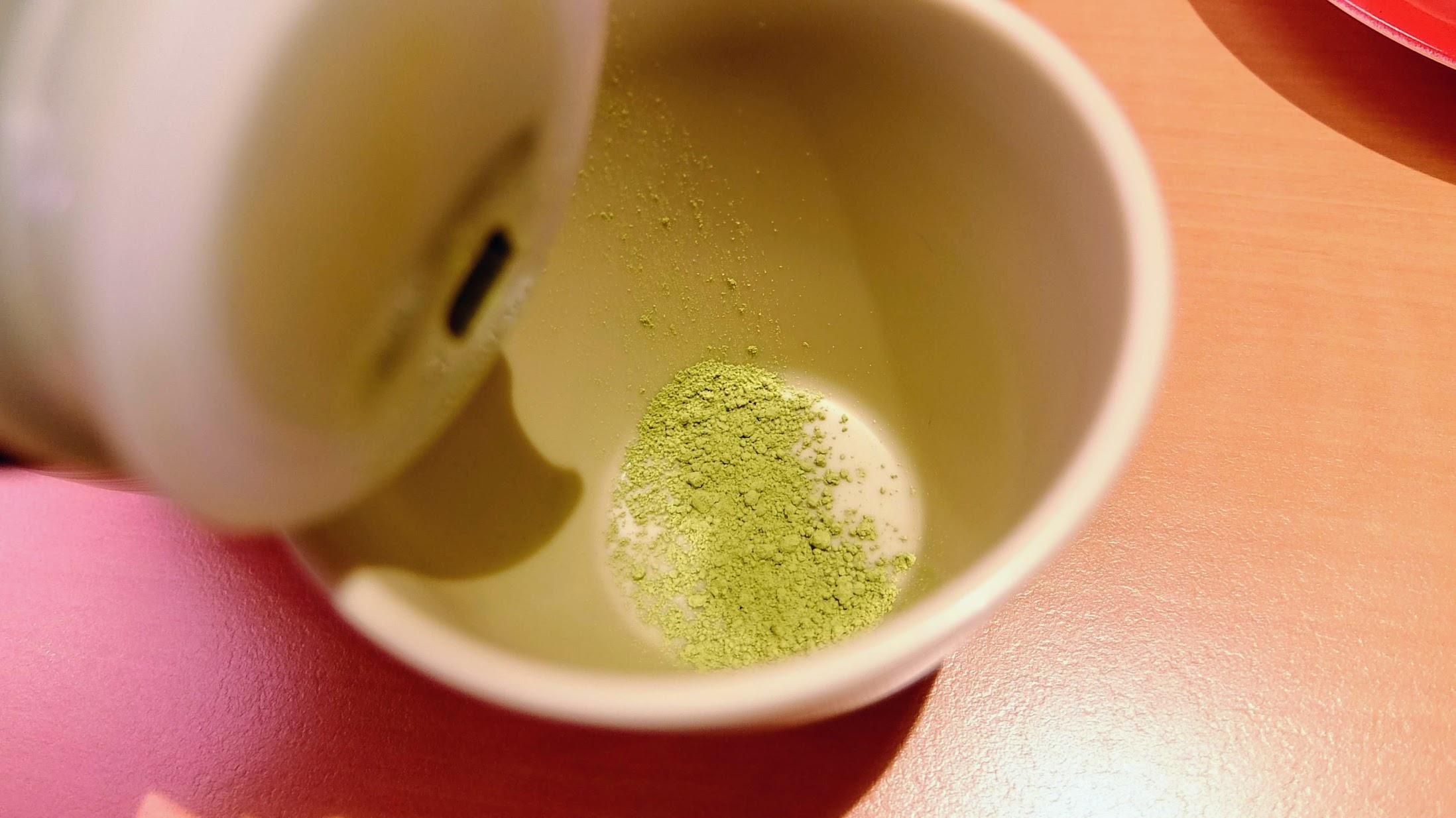 熱茶是抹茶粉