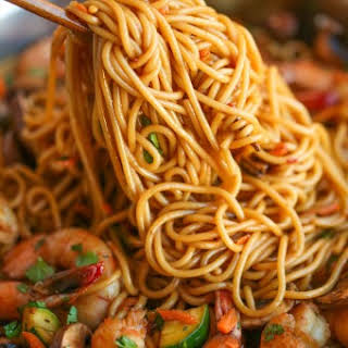 Asian Garlic Noodles.