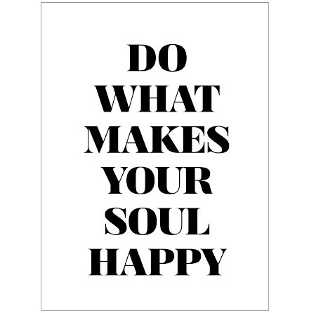DO WHAT MAKES YOUR SOUL HAPPY CITATPOSTER
