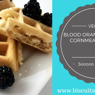 Blood Orange Scented Cornmeal Vegan Waffles.