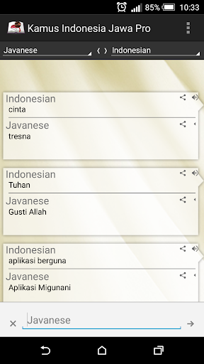 Indonesian Java Dictionary Pro