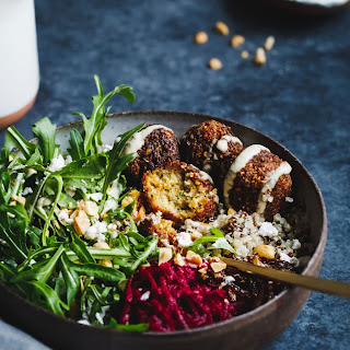 Butternut Squash Falafel Salad Bowls with Pickled Beets Recipe