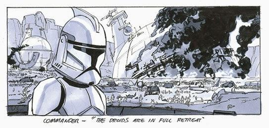 attack of the clones story board