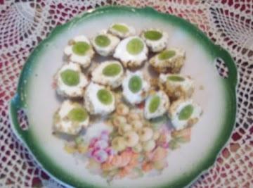 Green Grape Appetizers (alligator Eyes) Recipe