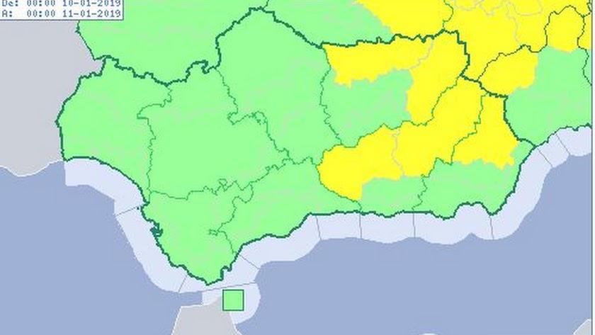 El norte de Almería, en alerta amarilla.