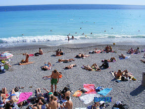 Photo: We find that as at Menton's sandy beaches. Nice's pebbly public ones are also clothing optional; However, US Internet regulations … yadda, yadda …