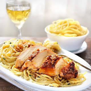 Garlic Butter Spaghetti and Chicken.