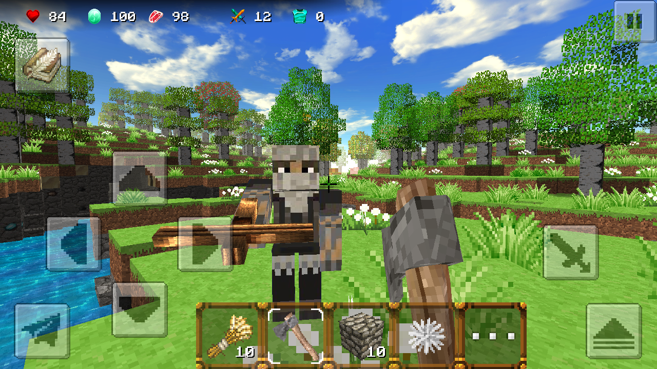 Screenshots of SimpleCraft 2 for iPhone