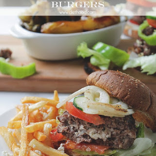 Garden Salad Feta-Stuffed Burgers