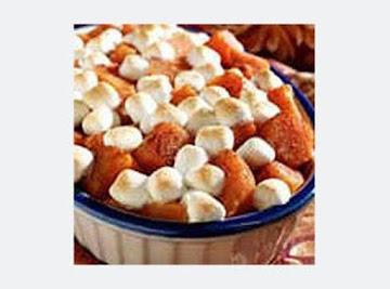 Mallow Mallow Topped Sweet Potaoes Recipe